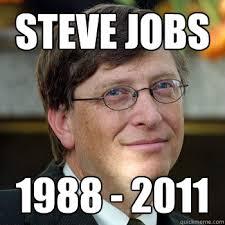 Steve Jobs Meme - steve jobs 1988 2011 steve jobs troll quickmeme