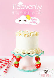 heavenly fluffy vanilla u2013 cookie dough u2013 layer cake with