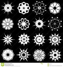 variety of black and white flower designs royalty free stock