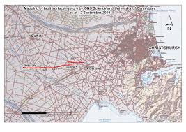 Fault Line Map Images Of The Darfield Canterbury Earthquake Fault Rupture The
