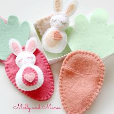 bitty bunnies felt pattern from molly and stuffed animals