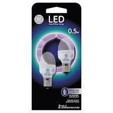 ge led 2 watt nightlight light bulb 2 pack soft white clear