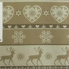 meterware stoff stoff dekostoff meterware weihnachten rentier flocke beige braun