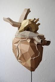 Cardboard Origami - lifelike cardboard sculptures design origami