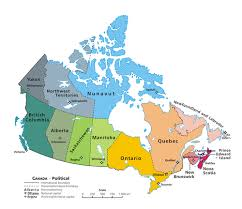 blank political map of canada provinces and territories of canada simple