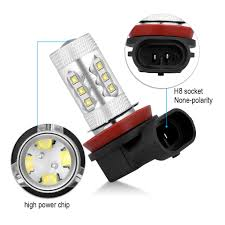 Fog Light Led Bulbs by 2x H8 H9 H11 High Power 80w 6000k White Led Bulbs Fog Driving Drl