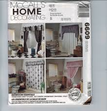 craft sewing pattern mccalls 6609 8658 bathroom essentials toilet