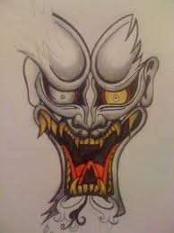 japanese oni mask tattoo designs pictures to pin on pinterest