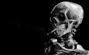 smoking skeletons vincent van gogh artwork background