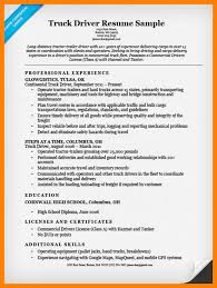 truck driver resume sample unforgettable truck driver resume examples to stand out