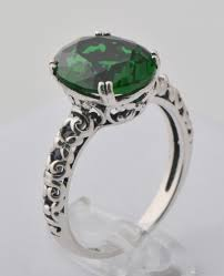jade engagement ring 2018 mixed style emerald ring 925 sterling silver eternal