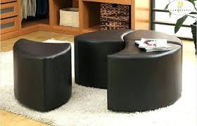 ottoman with 4 stools round cocktail table with 4 stools marvelous coffee table with 4
