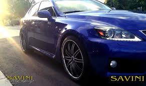 lexus isf blue is savini wheels