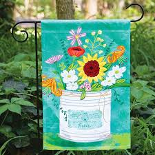 carolina flowers garden flag carolina outdoor decor