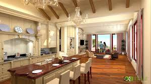 scandinavian 3d home kitchen rendering yantram architectural
