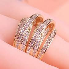 bridal gold ring online shop many size gold ring women wedding accessories