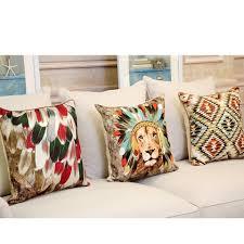 canapé style indien 3d jeter des oreillers pour la conception des plumes canapé de