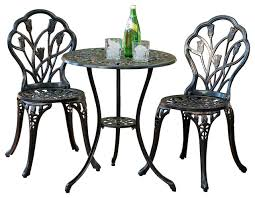 Wrought Iron Bistro Chairs with Wrought Iron Towel Bar Houzz