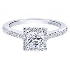 halo engagement rings princess cut halo engagement ring setting by gabriel co