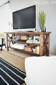 Rustic Tv Console Table How To Build A Diy Rustic Tv Console Easily For Cheap By