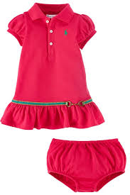 ralph baby equestrian dress and bloomer sport pink
