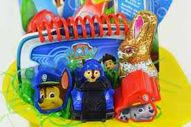 Easter Basket Decorating Contest by Diy Paw Patrol Easter Basket For A Toddler Simplistically Living