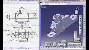 catia v5 tutorial how to read u0026 create 3d models from 2d drawings