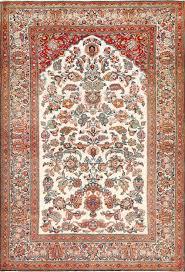 Persian Oriental Rugs by Antique Persian Wool And Silk Prayer Design Kashan Rug 50633