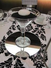 Large Martini Glass Centerpieces by Very Large Martini Glass Centrepiece Sweet 15 Pinterest