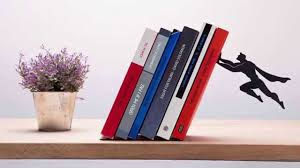 superhero bookends that save books from falling down youtube