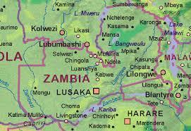 map of zambia of zambia