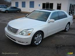 lexus ls 2005 2005 lexus ls 430 sedan in crystal white 018351 jax sports