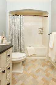 Bathrooms With Shower Curtains Bathtub Arch Bathroom Traditional With Shower Curtain Tile Floor