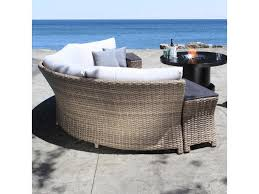 Curved Sectional Patio Furniture - cabana coast riverside curved sectional with storage wedge tables