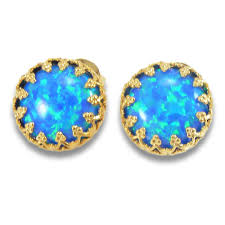 opal stud earrings opal stud earrings october birthstone blue opal earrings opal