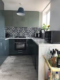 kallarp two tone blue and green kitchen renovation lvm kitchen