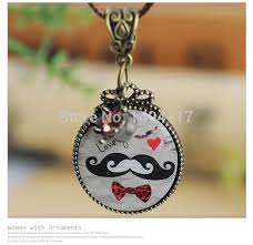 s day charm necklace s day jewelry gift mustache necklace couples