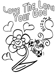 god loves you coloring page images pictures becuo in god is love