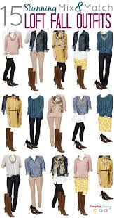 mix and match fall from loft fall capsule wardrobe