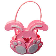 rabbit easter basket rabbit easter basket candy pouch decoration for