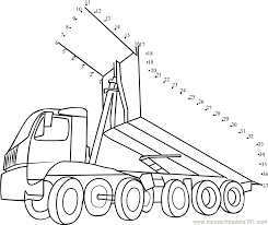 dump truck dot to dot printable worksheet connect the dots