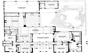 Courtyard Homes Floor Plans by Spanish Style House Plans With Courtyard Pertaining To