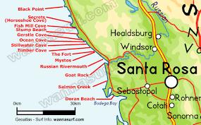 sonoma california map sonoma surfing in sonoma united states of america wannasurf