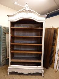 Shabby Chic Bookshelves by Lovely Shabby Chic Antique Bookcase Armoire Fd176 The French Depot