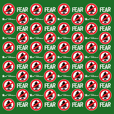christmas wrapping paper fear christmas wrapping paper atom age industries