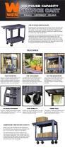 Home Depot Shelves by Wen 500 Lbs Capacity Service Cart 73002 The Home Depot