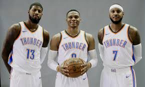 Carmelo Anthony Bench Press Oklahoma City U0027s Big Three Shooting For Their 1st Nba Title