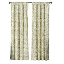 Yellow Gray Curtains Geometric Gray Rod Pocket Curtains U0026 Drapes Window