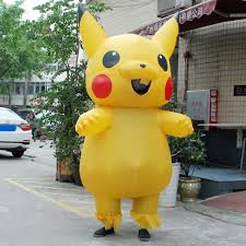 Halloween Mascot Costumes Large Pikachu Inflatable Cosplay Mascot Costume Halloween