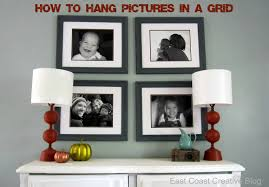How To Hang A Picture How To Hang Pictures In A Grid Tutorial East Coast Creative Blog